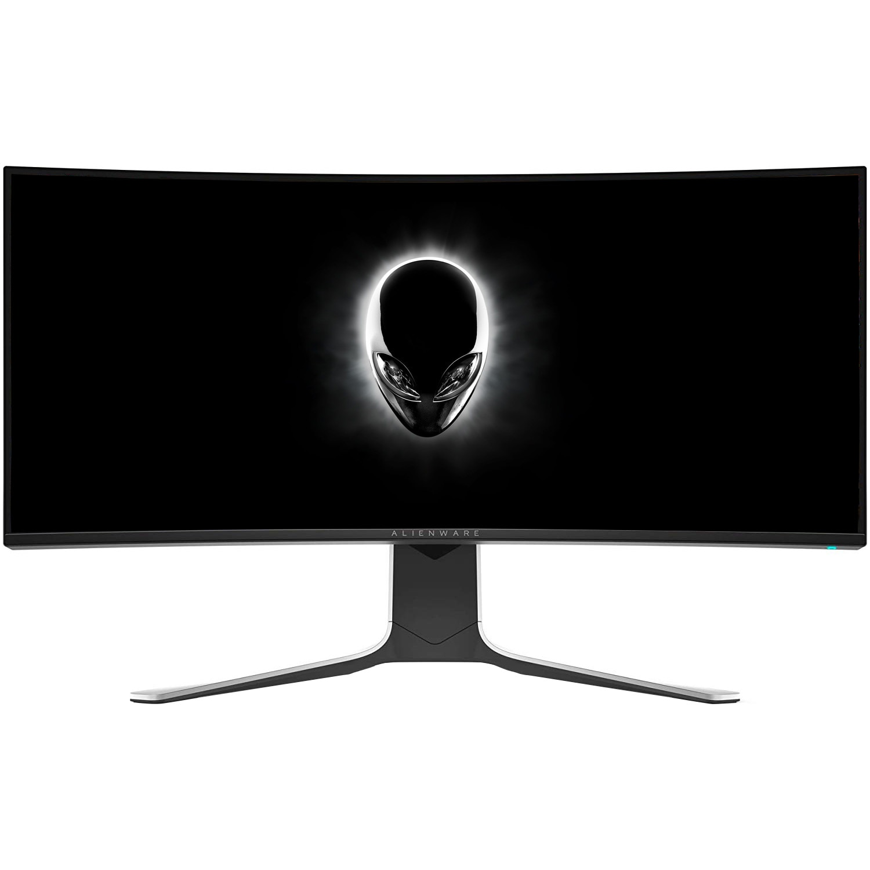 "Fotografie Monitor Curbat Gaming LED Nano IPS Dell Alienware 34"", UltraWide, QHD, 120Hz, 2ms, Display Port, G-Sync, Negru/Gri, Pivot, AW3420DW"
