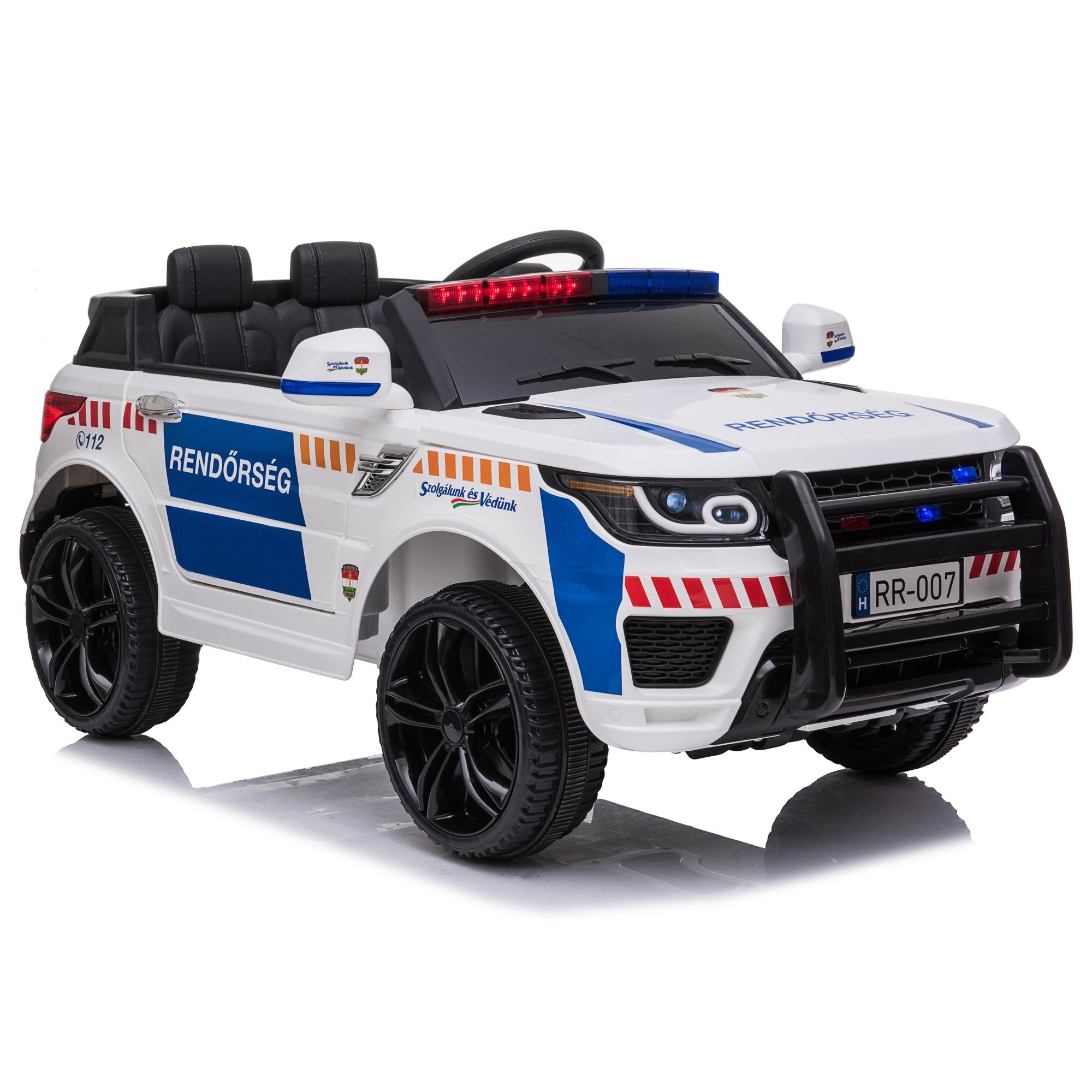 Kidcar Kc 002w Elektromos Kisauto Gyerekeknek 2 Szemelyes Rendorauto Feher Emag Hu