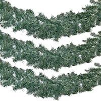 Ghirlanda de Craciun, model de brad, 10 cm x 2,7 m, verde