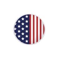 Kerek Törölköző Kör Alakú Strandtörölköző, Amerikai zászlós, 150 cm átmérőjű, 70% Pamut, 30% Poliészter