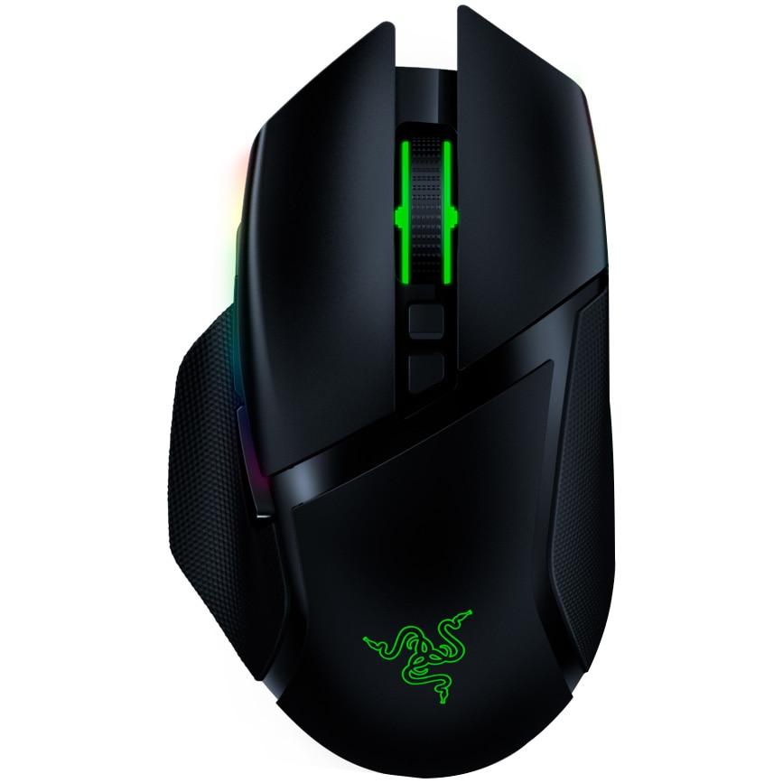 Fotografie Mouse gaming wireless Razer Basilisk Ultimate & Dock, iluminare Chroma RGB, ajustare rezistenta scrool, Negru