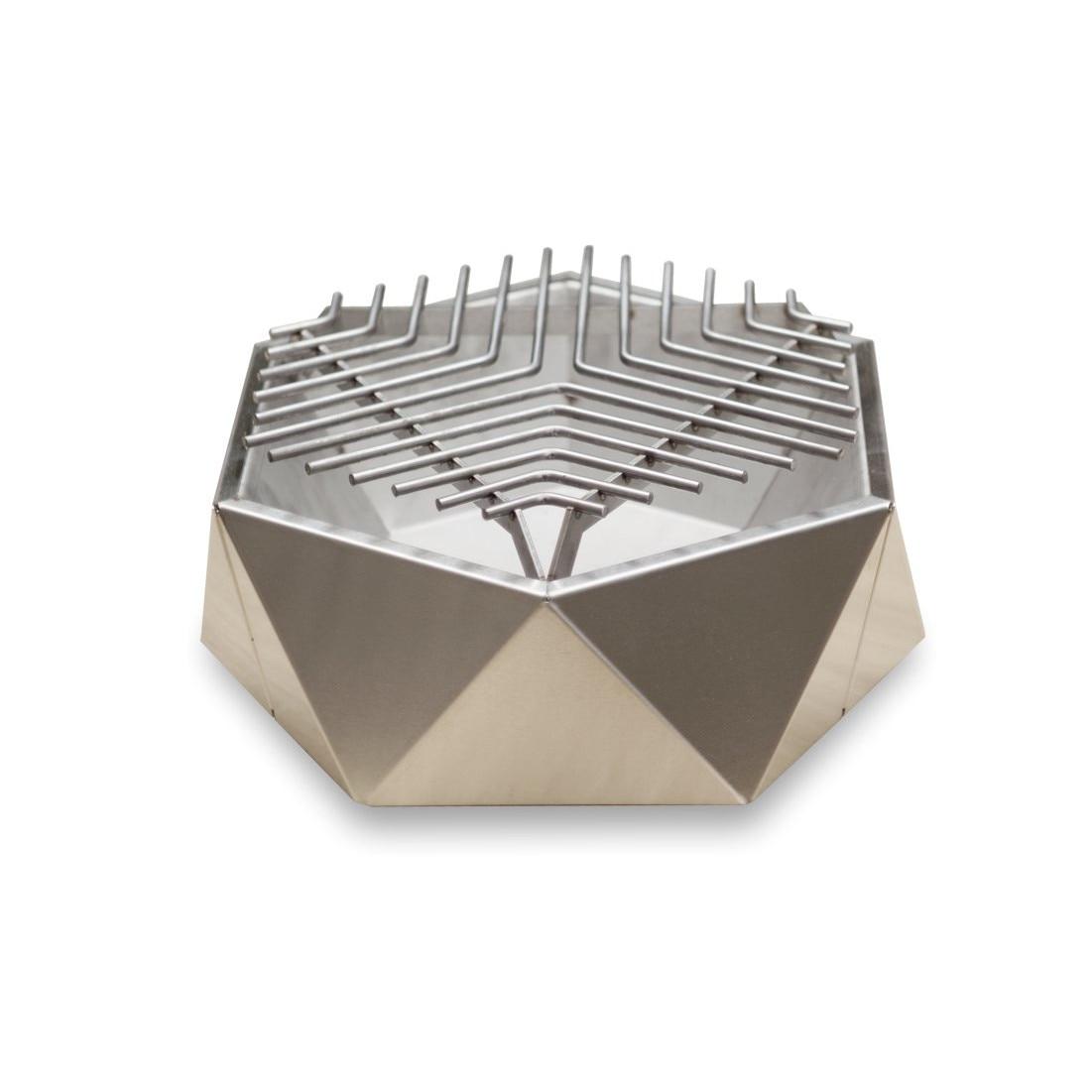 Mini Grill Top Table, rozsdamentes acél, átmérője 37 cm