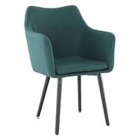 Étkező fotel, smaragd-fekete, DABIR
