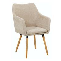 Étkező fotel, bézs anyag-bükk, DABIR
