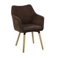 Étkező fotel, sötétbarna anyag-bükk, DABIR