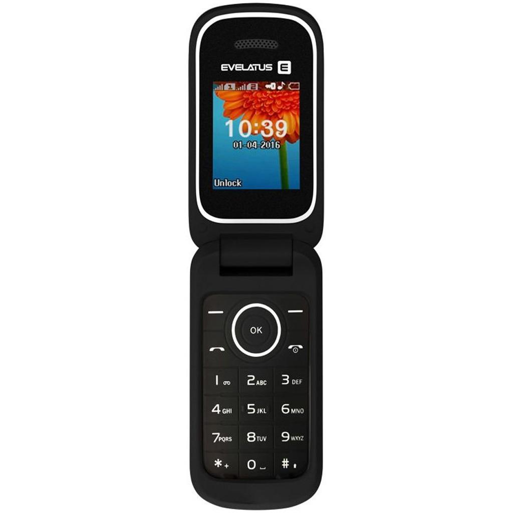 Fotografie Telefon mobil Evelatus FLIP, Dual SIM, Negru