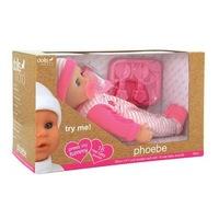 Phoebe puha baba - 30 cm, többféle színben