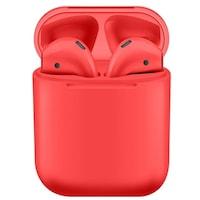 Безжични слушалки i12 TWS Bluetooth 5.0 с тъч контрол и 3D звук, Червен