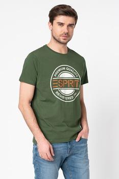 Esprit, Organikuspamut póló logómintával, Katonai zöld