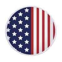 Amerikai zászló kerek törölköző