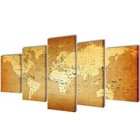 Декоративни панели за стена vidaXL, дизайн карта на света, 100х50 см