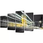 Декоративни панели Лондон Биг Бен vidaXL, 5 бр, канава, 200х100 см