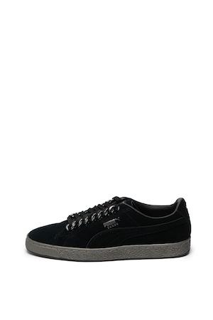 Puma, Classic nyersbőr sneaker, Fekete, 9