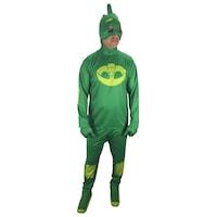 Карнавален костюм HuxyMascots Cat Boy, Пи Джей, Зелен, Универсален