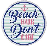 Beach hair kerek törölköző