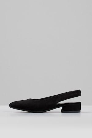 Vagabond Shoemakers, Sarokpántos nyersbőr szandál, Fekete, 38