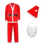 Костюм Дядо Коледа за възрастни, 5 части