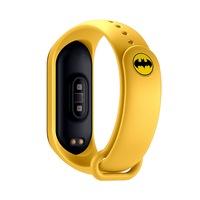 Xiaomi Mi Band 3 és Mi Band 4 okoskarkötő pótszíj – Batman logóval - sárga