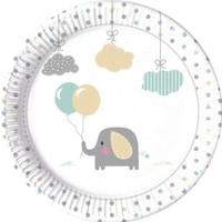 Elephant Baby, Elefánt Papírtányér 8 db-os 23 cm PNN90493