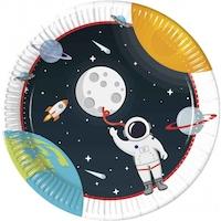 Outer Space, Világűr Papírtányér 8 db-os 23 cm PNN90295