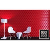 Стенни 3D декоративни гипсови панели, пана № 0120 от Ефект на Марбела размери: 50 х 50см, цвят: бял