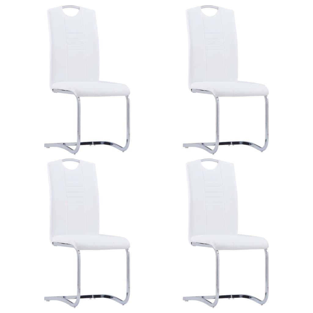 szánkótalpas Étkezőszék, vidaXL, 4 db, műbőr, fehér yGB60k