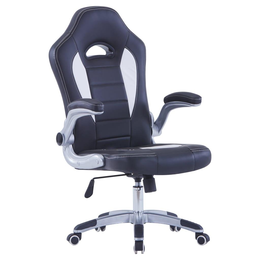 vidaXL gamer szék, műbőr, fekete és fehér eMAG.hu