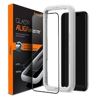"Folie de protectie Spigen AlignMaster FC pentru iPhone 11 (6.1""), 9H, Case Friendly, Negru"