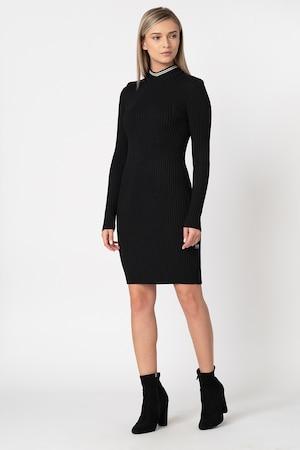 G-Star RAW, Плетена рокля Lynn, Черен, XL