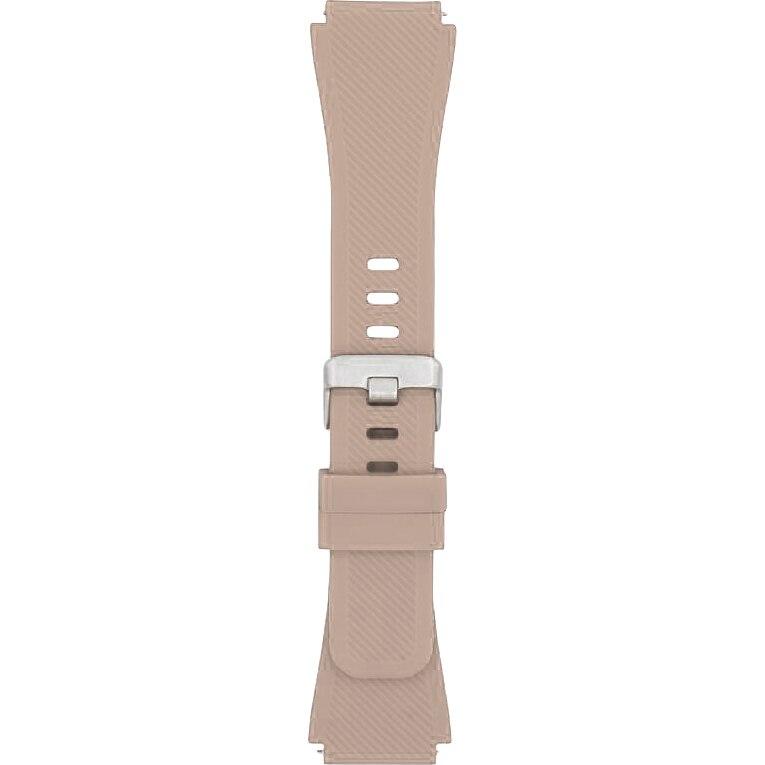Fotografie Curea ceas silicon pentru Samsung Gear S3 / Watch 46mm / Huawei Watch GT-22mm, Crem