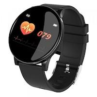 Водоустойчив Спортен Смарт Часовник W8, Пулс, Kрачки, Разстояние,Мултиспорт, Bluetooth, Черен
