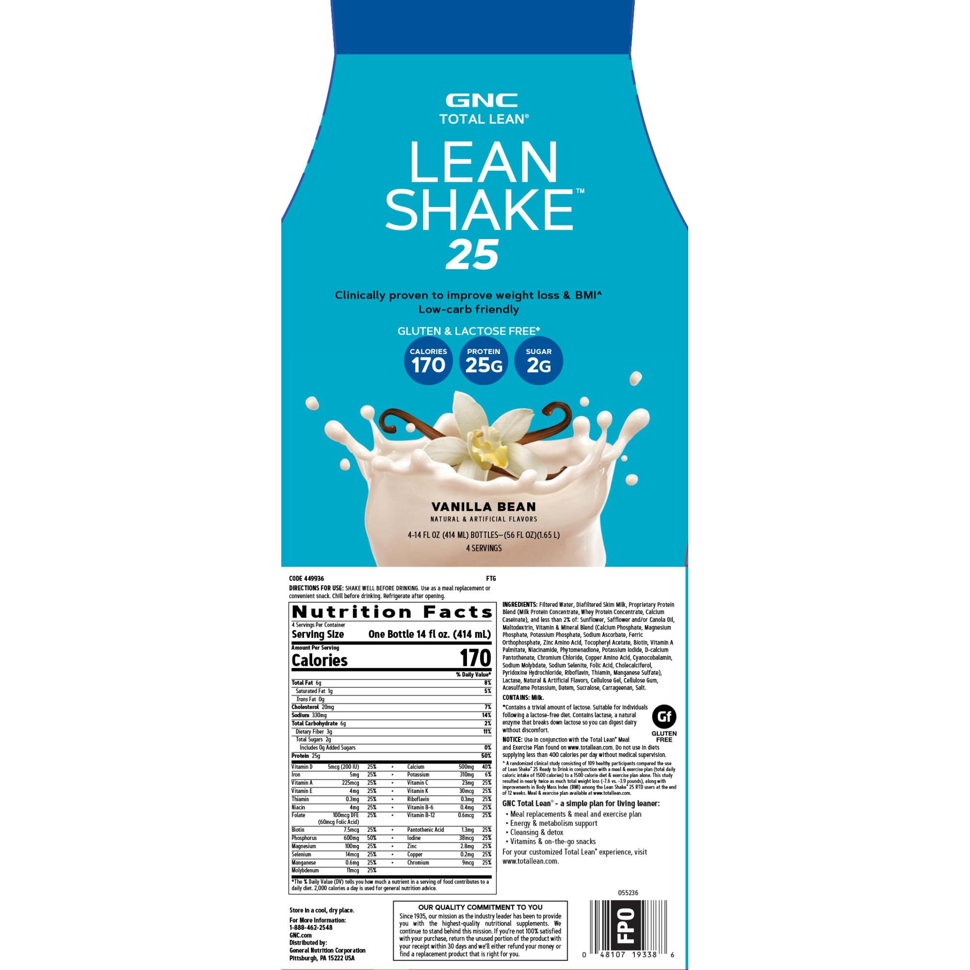 gnc lean shake 25 pierdere în greutate)