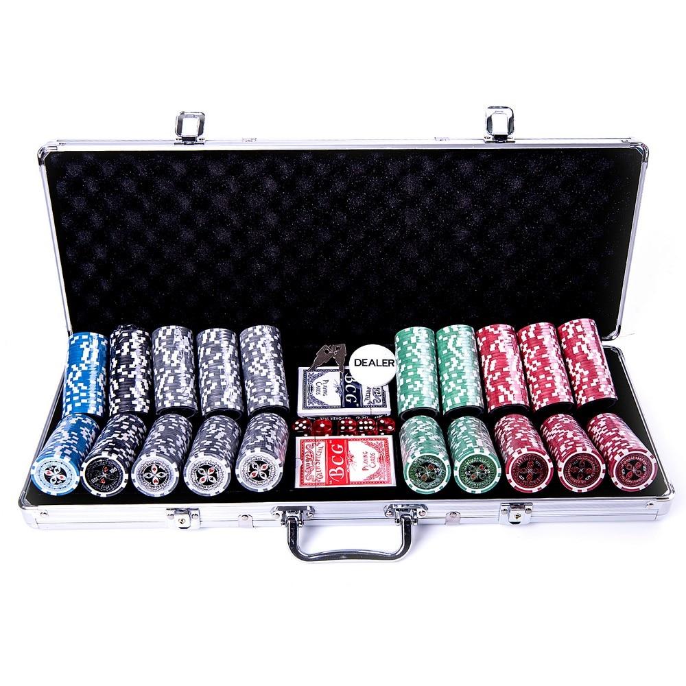 48 oferte pentru Set Joc de Poker cu 500 Jetoane tip Dolari si Valiza Metalica + Accesorii Complete