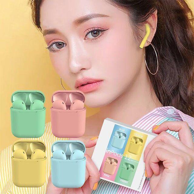 Bluetooth fülhallgató i12 5.0 tws 2019 Pink FEMT5j