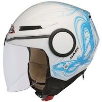 Мотоциклетна отворена каска SMK STREEM FANTASY, blue/white, Размер L