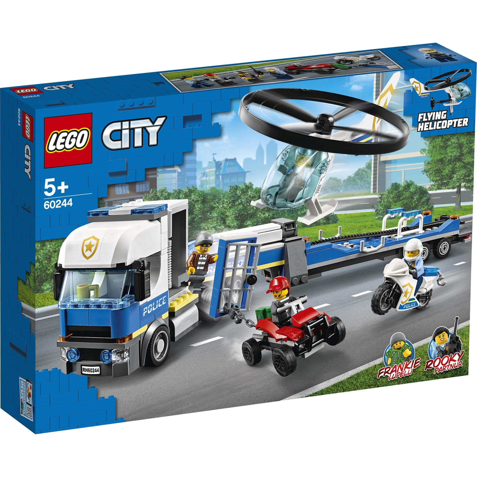 Fotografie LEGO City Police - Transportul elicopterului de politie 60244, 317 piese