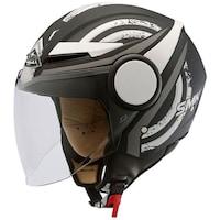 Мотоциклетна отворена каска SMK, STREEM HEROIC MA216 black/matt/white, Размер XS