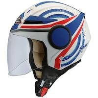 Мотоциклетна отворена каска SMK, STREEM HEROIC MA153 blue/matt/white, Размер XL