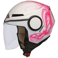 Мотоциклетна отворена каска SMK, STREEM FANTASY, pink/white, Размер L
