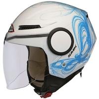 Мотоциклетна отворена каска SMK, STREEM FANTASY, blue/white, Размер XL
