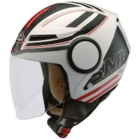 Мотоциклетна отворена каска SMK, SONIC GL123, black/red/white, Размер XS