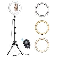 Професионална лампа за грим Ej-Products, LED, Със статив 210 см, 26 см