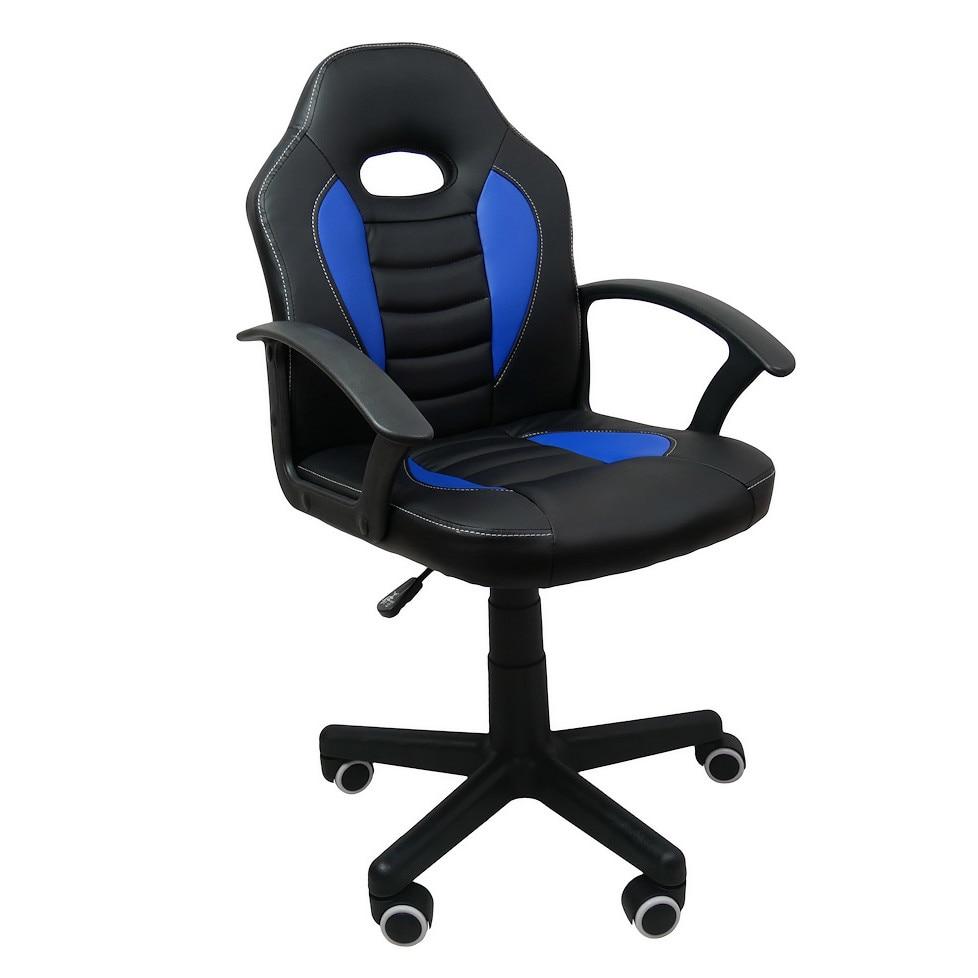 Gamer szék gyerekeknek, Forks Blue, szintetikus bőr, Fekete kek eMAG.hu
