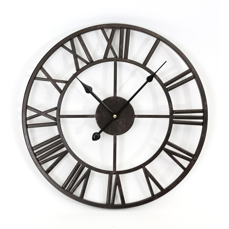 Platinet Zegar Wall Clock стенен часовник черен Emag Bg