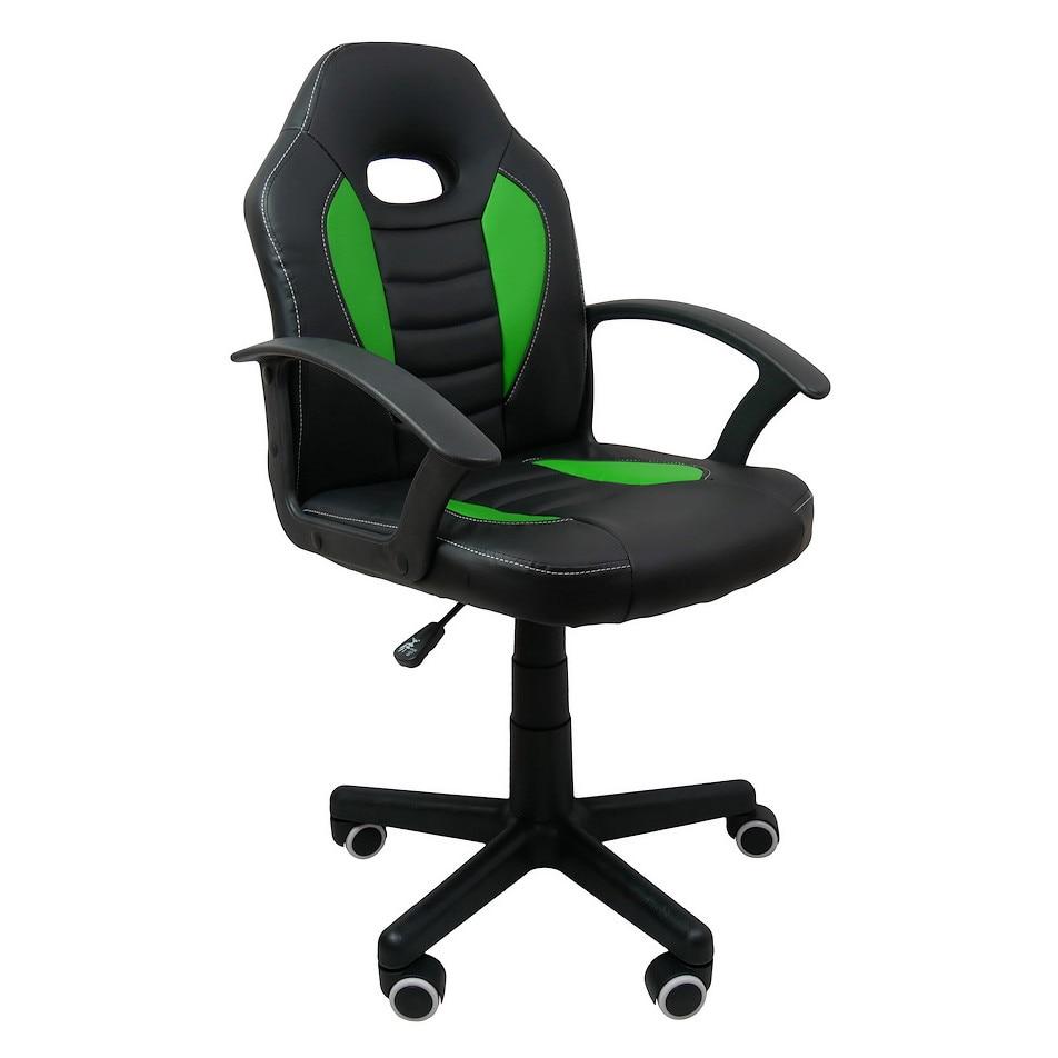 Gamer szék gyerekeknek, Forks Green, szintetikus bőr, Fekete Zöld eMAG.hu