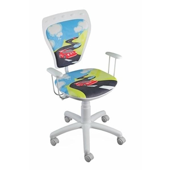 Krzesło obrotowe dziecięce dinozaury Zdjęcie na imgED