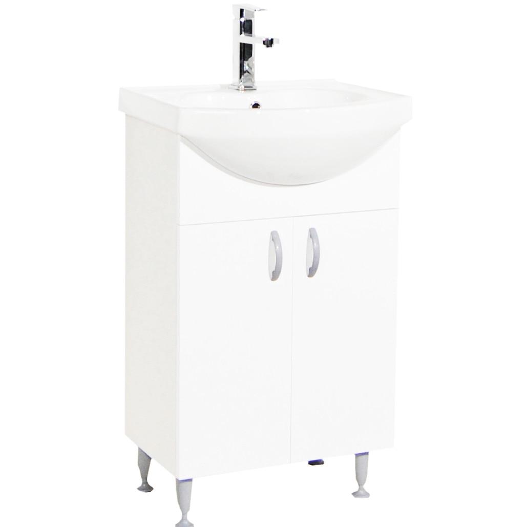 Fotografie Pachet baza mobilier si lavoar Badenmob 001 ECO, 50cm, ALB