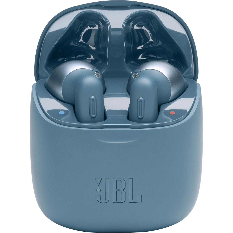 Fotografie Casti In-Ear True Wireless JBL Tune 220TWS, JBL Pure Bass Sound, Bluetooth Wireless, Hands-free Stereo Calls, 19h playback, Albastru