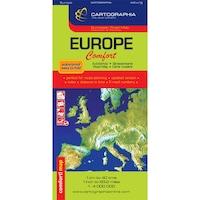 Európa Comfort térkép (laminált)