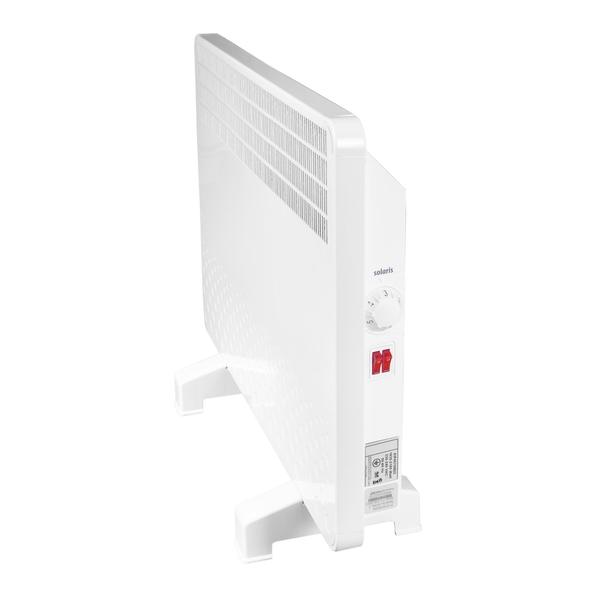 Fotografie Convector electric Solaris, 1000 W, control mecanic, Termostat de siguranta, termostat reglabil, IP 24, ERP 2018